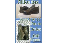 Clothing sizes s to xxl and tns 6 to 11