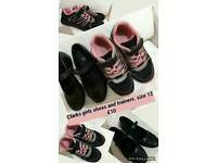 CLARKS girls shoes and trainers