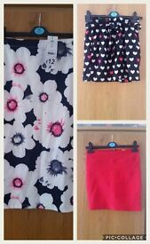 3 ladies skirts size 10