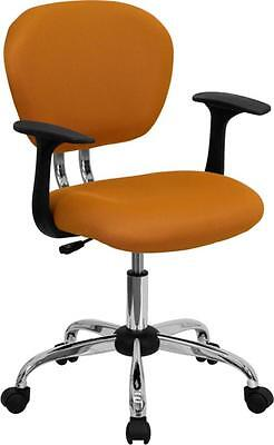 Flash Furniture Mid-back Orange Mesh Task Chair Warms & Chrome Base New