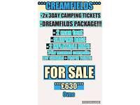 2x Creamfields tickets (CREAMFIELDS PACKAGE)
