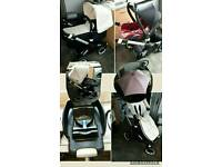 Bugaboo buffalo travel system JOB LOT! pram car seat isofix base parasol car seat adapters