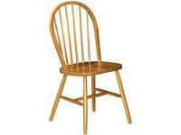 Julian Bowen Windsor Dining Chairs Pine Set of 2