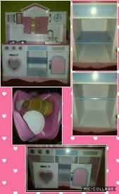Pink Wooden Kitchen with Accessories