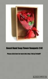 Boxed Hand Soap Flower Bouquets