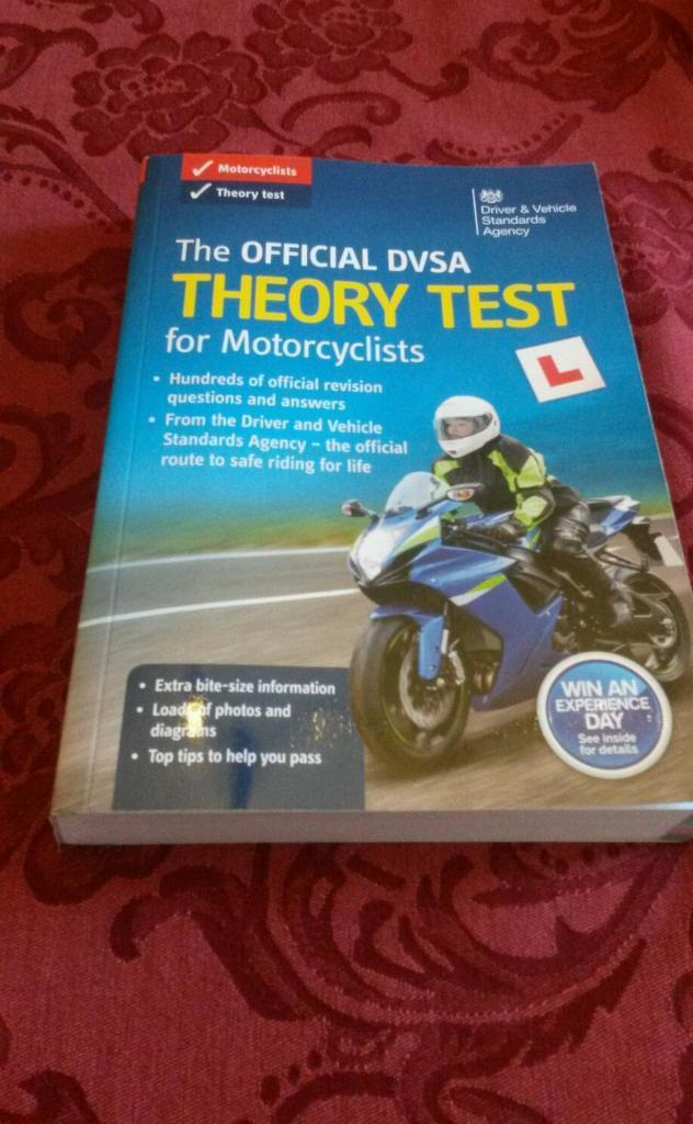 Motorcycle theory test book