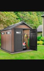 Brand new 7.5x4 ft keter fusion shed