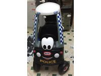 Little tikes coop police car and gas pump