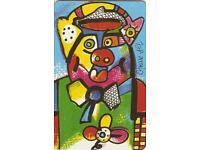 Telefonkarte P 14 Schwein von Otmar Alt aus dem Jahr 1994 Nordrhein-Westfalen - Kamen Vorschau