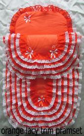 New Handmade Babys Pramset Pram set Blanket Romany