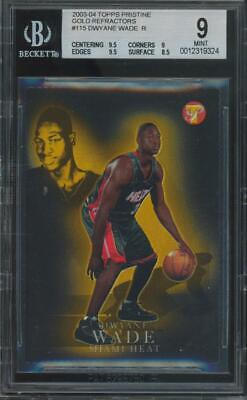 2003 Topps Pristine Gold Refractor #115 Dwyane Wade 67/99 RC Rookie Mint BGS 9