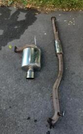 Cat back silenced exhaust lancer evo 7/8/9