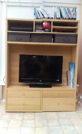 TV & Shelf unit and side cupboard