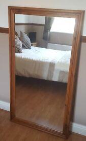 Large Pine dressing mirror
