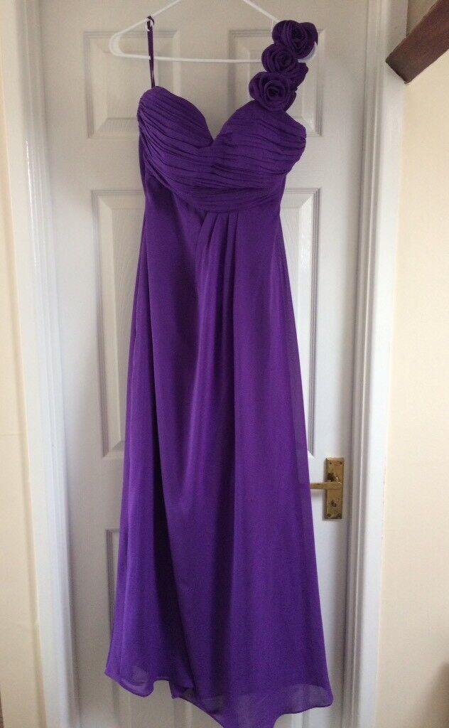Elegant chiffon long, one shoulder dress
