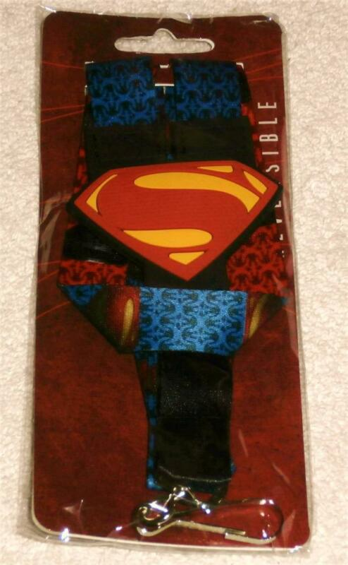 SUPERMAN LANYARD LOGO MAN OF STEEL MOVIE 2013 DC COMICS ID HOLDER BADGE KEY NECK
