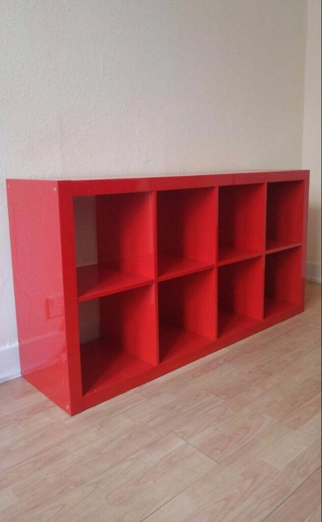 high gloss red ikea kallax shelving unit in southside glasgow gumtree. Black Bedroom Furniture Sets. Home Design Ideas