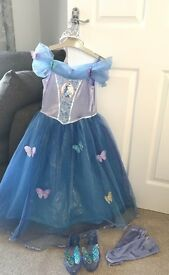 Live action Cinderella dress stunning age 5-6 and light up Cinderella shoes excellent condition