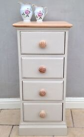 Narrow Chest of Pine Drawers