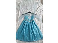 Disney's Frozen, ice blue inc cape & satin pink cape dressing up costumes