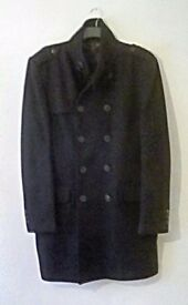 Military style overcoat