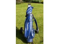 SET OF PINSEEKER GOLF CLUBS, BAG AND TROLLEY