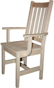 Mennonites local maple wood dining chairs, shaker mission, slatback, ladder back, dining chairs - CLEARANCE