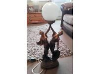 2 lady ball light table lamp