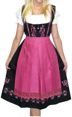 Dirndl Trachten Oktoberfest Dress 3 Pcs Long Embroidered ...