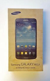"New Samsung Galaxy Mega 6.3"" BIG SCREEN PHONE in a Box with all the Accessories - SIM FREE UNLOCKED"