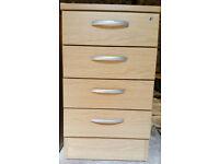 4 Drawer Wood Desk Pedestal