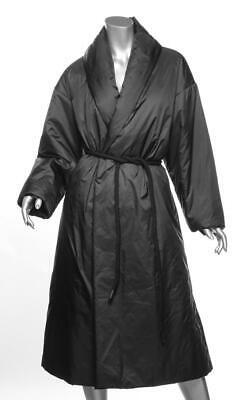 IENKI IENKI Womens Black Down Puffer Pyramid Rope-Belted Jacket Coat S NEW