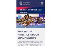 2 x British Athletics Tickets £0