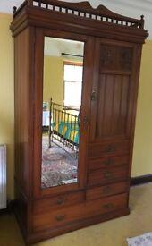 Antique Victorian Mahogany Wardobe