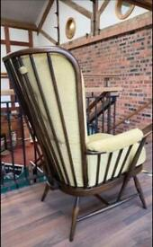 Ercol evergreen high backed easy chair