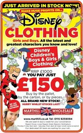 Cash Earner, Ideal for Everyone and Anyone. New Ex Disney Clothing Ideal for Carboots, Facebook,