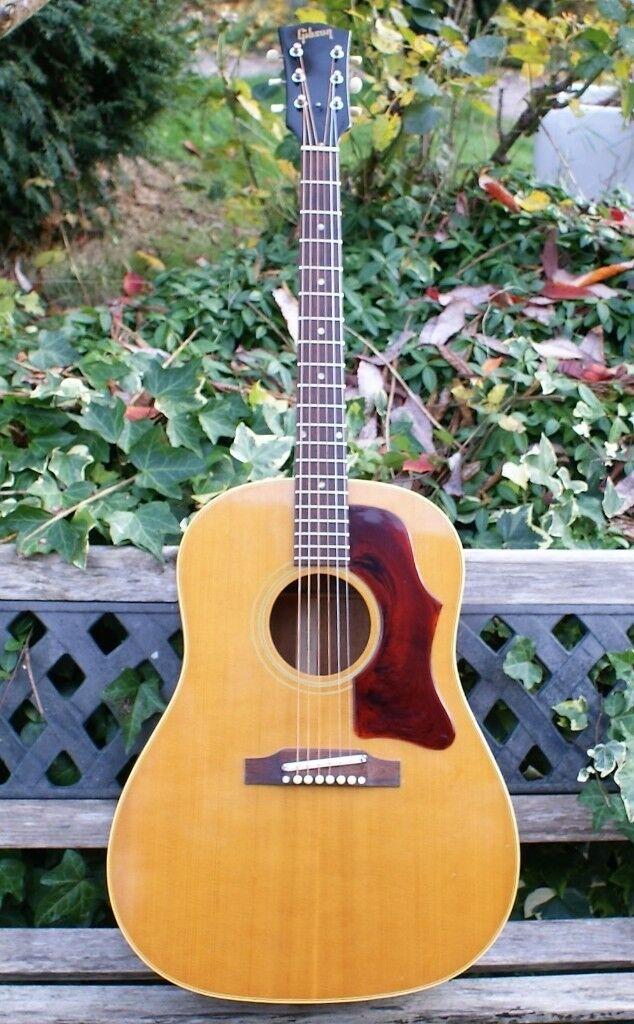 Stunning 1968 Gibson J 50 ADJ Natural Acoustic Guitar With Original Case