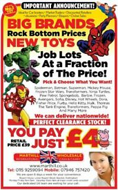 Ideal Cash Booster for Everyone and Anyone Toys that sell All Year Round. Branded Ex New Toys