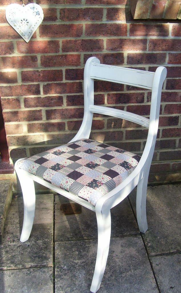 2 Lovely Shabby Chic Regency Style Kitchen Dining Chairs