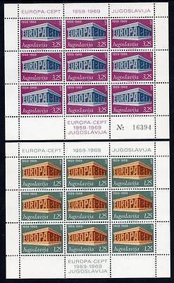 YUGOSLAVIA MNH 1969 SG1407-08 Europa Sheetlets