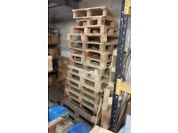 FREE WOODEN PALLETS MUST BE COLLECTED