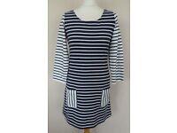 Joules Tunic - Navy & white stripe