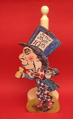 The Mad Hatter Wooden Kitchen Roll Holder Alice in Wonderland Tenniel Art Gift