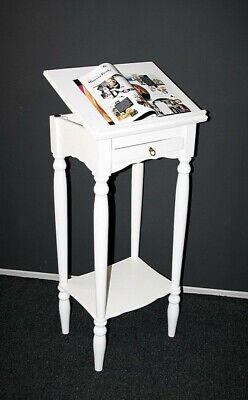 Massivholz Stehpult weiß Rednerpult Notenständer Lesepult Schreibpult Hochtisch Weiß Stehpult