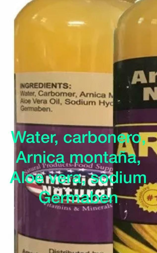 ARNICA MONTANA GEL FOR PAIN  8 Oz PAIN RELIEF BRUISES MUSCLE ACHES CREAM FREE PT 2