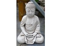 Buddha Garden Ornament Reconstituted Stone 50cm tall Lotus Crossed Leg Thai £69 Pick Up Only