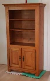 Solid french oak dresser/book cabinet