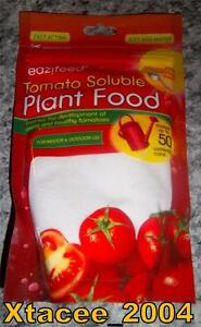 Eazifeed 250g Fast Acting Soluble TOMATO Plant Food Feed indoor/outdoor Add H20