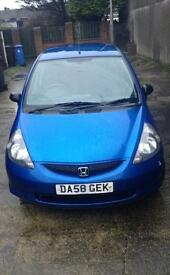 2009 Honda Jazz 1.2 petrol manual CD player met.blue grey interior. 1 lady owner from new.