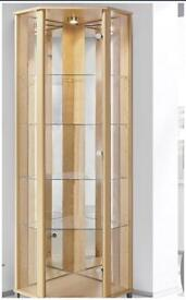 Glass display cabinet without lights